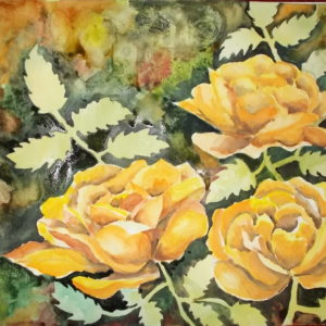 acuarela-3-trandafiri-galbeni